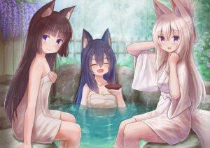 Rating: Questionable Score: 15 Tags: animal_ears bathing iroha_(iroha_matsurika) kitsune loli onsen sake see_through tagme tail towel wet wet_clothes yukata User: dick_dickinson