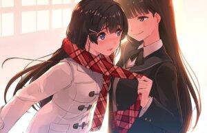 Rating: Safe Score: 40 Tags: akasa_ai amagami ayatsuji_tsukasa crossover nijisanji seifuku sweater tsukino_mito yuri User: hiroimo2