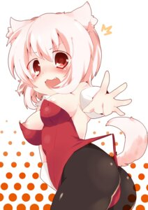 Rating: Questionable Score: 28 Tags: animal_ears areola ass bunny_girl guratan18 inubashiri_momiji nipple_slip tail touhou User: Zenex