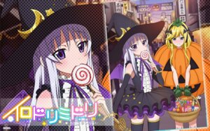 Rating: Safe Score: 29 Tags: dress halloween irodori_midori tagme thighhighs wallpaper witch User: fairyren
