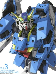 Rating: Safe Score: 9 Tags: gundam gundam_00 gundam_00p mecha sefer_rasiel yanase_takayuki User: Aurelia