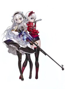 Rating: Questionable Score: 65 Tags: chaika_bohdan chaika_trabant gothic_lolita gun heels hitsugi_no_chaika lolita_fashion namaniku_atk sword thighhighs User: Radioactive