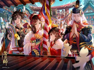Rating: Safe Score: 35 Tags: animal_ears eyepatch fuzichoko japanese_clothes kimono onmyouji pointy_ears User: RyuZU