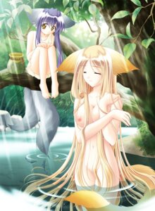 Rating: Questionable Score: 40 Tags: animal_ears bathing breast_hold dress feet kitsune koma louis&visee naked nipples solo summer_dress tail tail_tale wet User: admin2