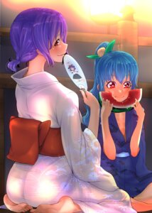 Rating: Safe Score: 4 Tags: bakuya hinanawi_tenshi nagae_iku touhou yukata User: Mr_GT