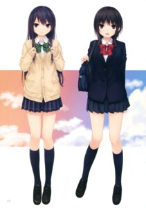 Rating: Safe Score: 65 Tags: aoyama_sumika coffee-kizoku royal_mountain seifuku shiramine_rika sweater User: Twinsenzw