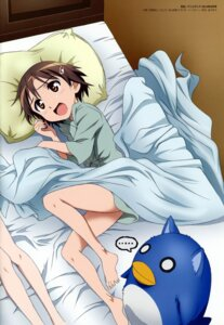 Rating: Questionable Score: 9 Tags: abiru_tadashi miyafuji_yoshika pajama penguin sheets stitchme strike_witches User: Nepcoheart