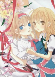 Rating: Safe Score: 18 Tags: alice_margatroid dress kirisame_marisa touhou tsuno_no_hito yuri User: Radioactive