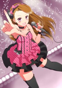 Rating: Safe Score: 43 Tags: cleavage dress minase_iori ookami_maito the_idolm@ster thighhighs User: charunetra