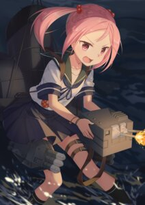 Rating: Safe Score: 33 Tags: kantai_collection sazanami_(kancolle) seifuku transistor weapon User: Mr_GT