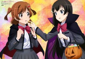 Rating: Safe Score: 19 Tags: aijou_karen halloween kagura_hikari katasho_tomoko seifuku shoujo_kageki_revue_starlight User: drop