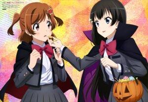 Rating: Safe Score: 21 Tags: aijou_karen halloween kagura_hikari katasho_tomoko seifuku shoujo_kageki_revue_starlight User: drop