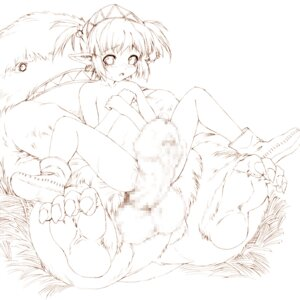 Rating: Explicit Score: 10 Tags: censored elf hitomaru jpeg_artifacts line_art loli monochrome naked penis pointy_ears User: Akio-sama