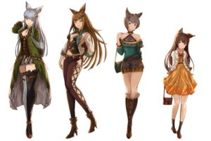 Rating: Safe Score: 33 Tags: animal_ears aster_(granblue_fantasy) cleavage dress fishnets granblue_fantasy heels korwa metella_(granblue_fantasy) no_bra stella_(granblue_fantasy) thighhighs yatsuka_(846) User: nphuongsun93