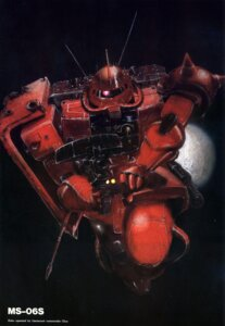 Rating: Safe Score: 7 Tags: gundam mecha mobile_suit_gundam ms-06_zaku_ii tagme User: Radioactive