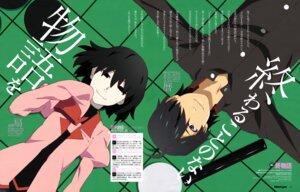 Rating: Safe Score: 14 Tags: akiba_touru araragi_koyomi bakemonogatari oshino_ougi owarimonogatari seifuku User: drop