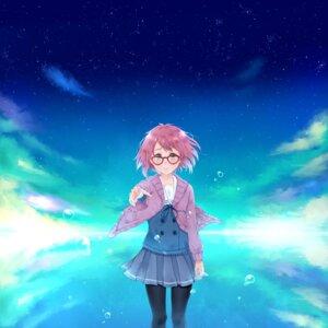 Rating: Safe Score: 17 Tags: kuriyama_mirai kyoukai_no_kanata megane pantyhose seifuku sweater utakata_(s_sw) User: Noodoll