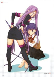 Rating: Safe Score: 15 Tags: fate/hollow_ataraxia fate/stay_night matou_sakura rider seifuku takayama_kisai thighhighs User: Aurelia