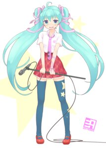 Rating: Safe Score: 18 Tags: hatsune_miku nagian thighhighs vocaloid User: Nekotsúh