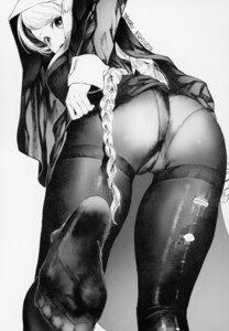 Rating: Questionable Score: 35 Tags: ass cameltoe echigoya_takeru feet monochrome nun pantsu pantyhose skirt_lift tagme torn_clothes User: Radioactive