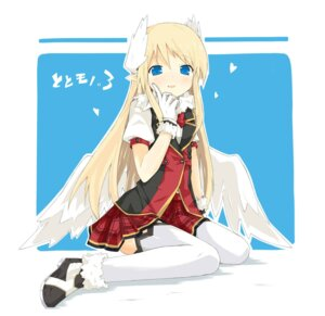 Rating: Safe Score: 24 Tags: ken_to_mahou_to_gakuen_mono. kitsune_(scaz) thighhighs wings User: fairyren