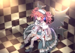 Rating: Safe Score: 31 Tags: arere headphones kasane_teto lolita_fashion thighhighs utau wings User: Radioactive