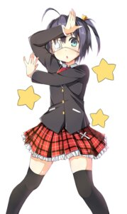 Rating: Safe Score: 36 Tags: chuunibyou_demo_koi_ga_shitai! eyepatch luky seifuku sky-freedom takanashi_rikka thighhighs User: Radioactive