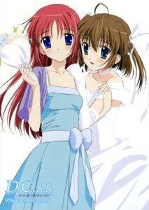 Rating: Safe Score: 9 Tags: asakura_nemu da_capo da_capo_(series) dress shirakawa_kotori wedding_dress User: jxh2154