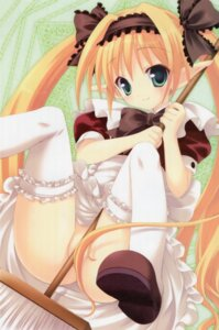 Rating: Questionable Score: 66 Tags: elf maid nopan pointy_ears sasorigatame thighhighs User: petopeto