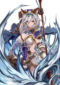 Rating: Safe Score: 35 Tags: animal_ears armor cleavage granblue_fantasy heles no_bra weapon User: Sere