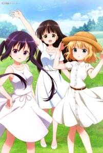 Rating: Safe Score: 49 Tags: dress gochuumon_wa_usagi_desu_ka? kirima_sharo ogawa_akane summer_dress tedeza_rize ujimatsu_chiya User: drop