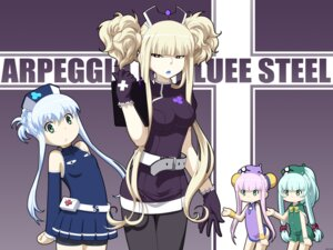 Rating: Safe Score: 15 Tags: aoki_hagane_no_arpeggio bike_shorts i-400 i-401 i-402 iona kamo_3 kongou_(aoki_hagane_no_arpeggio) pantyhose User: sylver650