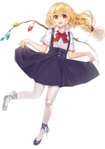 Rating: Safe Score: 27 Tags: ameyame dress flandre_scarlet pantyhose seifuku skirt_lift touhou wings User: Mr_GT