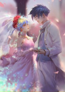 Rating: Safe Score: 22 Tags: dress nia qmo_(chalsoma) simon tengen_toppa_gurren_lagann wedding_dress User: blooregardo