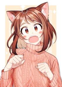 Rating: Safe Score: 14 Tags: animal_ears boku_no_hero_academia lukapang nekomimi sweater uraraka_ochako User: charunetra