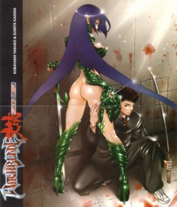 Rating: Questionable Score: 10 Tags: armor ass bandages blood crease ibaraki_takeru maebari minamoto_kou seifuku sumita_kazasa sword thighhighs top_cow_productions witchblade witchblade_takeru User: Davison