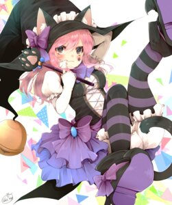 Rating: Safe Score: 55 Tags: animal_ears bloomers chita_(ketchup) nekomimi pantyhose signed tail witch User: Mr_GT