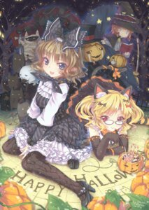 Rating: Safe Score: 26 Tags: abyss_of_parliament animal_ears halloween nekomimi pantyhose tail witch User: Mr_GT