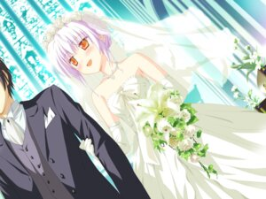 Rating: Safe Score: 21 Tags: dress game_cg hoshizora_no_memoria ototsu_yume shida_kazuhiro wedding_dress User: taramayo