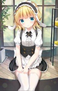 Rating: Safe Score: 25 Tags: animal_ears bunny_ears gochuumon_wa_usagi_desu_ka? kirima_sharo maid pizzzica tagme thighhighs waitress User: BattlequeenYume