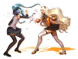 Rating: Safe Score: 18 Tags: gd_choco hatsune_miku seeu slam_dunk thighhighs vocaloid User: Radioactive