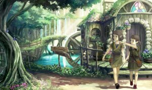 Rating: Safe Score: 31 Tags: elf harupy landscape pointy_ears User: charunetra