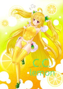 Rating: Safe Score: 18 Tags: brightdark c.c._lemon c.c._lemon_(character) pantsu thighhighs User: vanilla