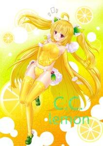 Rating: Safe Score: 20 Tags: brightdark c.c._lemon c.c._lemon_(character) pantsu thighhighs User: vanilla