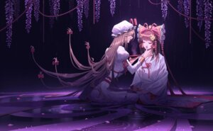 Rating: Safe Score: 26 Tags: hakurei_reimu japanese_clothes jira touhou yakumo_yukari yuri User: Mr_GT