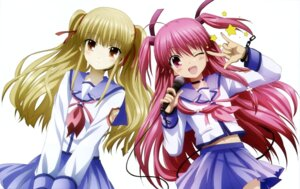 Rating: Safe Score: 39 Tags: angel_beats! satou_rika seifuku yui_(angel_beats!) yusa User: Ravenblitz