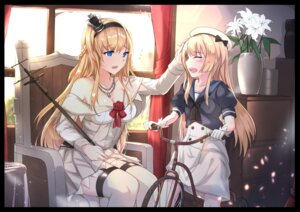 Rating: Safe Score: 31 Tags: antiqq cleavage dress jervis_(kancolle) kantai_collection seifuku stockings thighhighs warspite_(kancolle) User: sym455