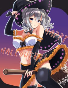 Rating: Safe Score: 11 Tags: cleavage halloween kantai_collection kashima_(kancolle) skirt_lift soba_chatarou_(tita) thighhighs witch User: Mr_GT