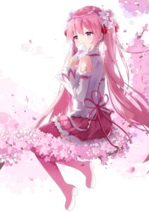 Rating: Safe Score: 75 Tags: hatsune_miku kuroi_asahi sakura_miku tattoo thighhighs vocaloid User: Mr_GT