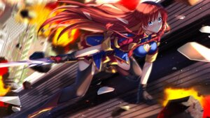 Rating: Safe Score: 39 Tags: cleavage re:creators selestia_yupitiria stockings sword swordsouls thighhighs wallpaper User: Mr_GT